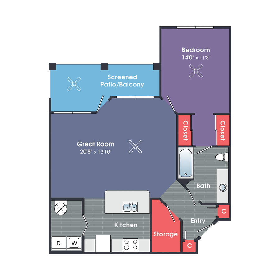 One Bedroom Apartment Rentals