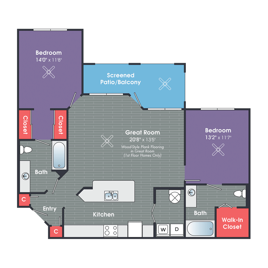 Two Bedroom Apartments in Bluffton