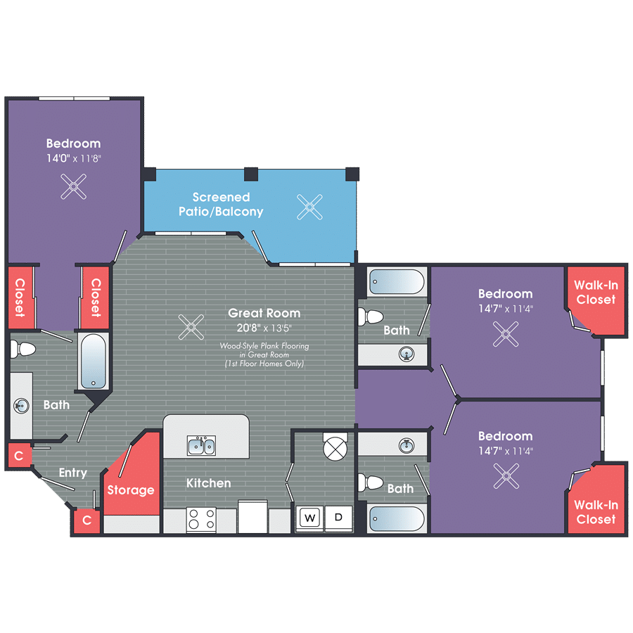 Three Bedroom Apartments in Bluffton